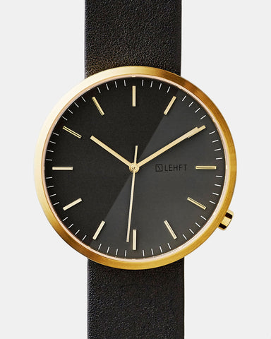 Gold / Black - LEHFT Minimalist Watches - 1