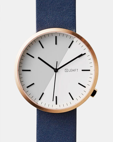Rose Gold / Navy - LEHFT Minimalist Watches - 1