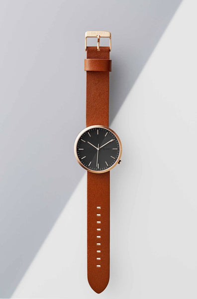 Rose Gold / Tan Brown - LEHFT Minimalist Watches - 4