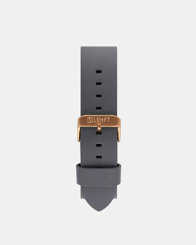 Grey Leather Strap / Rose Gold - LEHFT Minimalist Watches