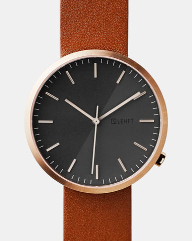 Rose Gold / Tan Brown - LEHFT Minimalist Watches - 1