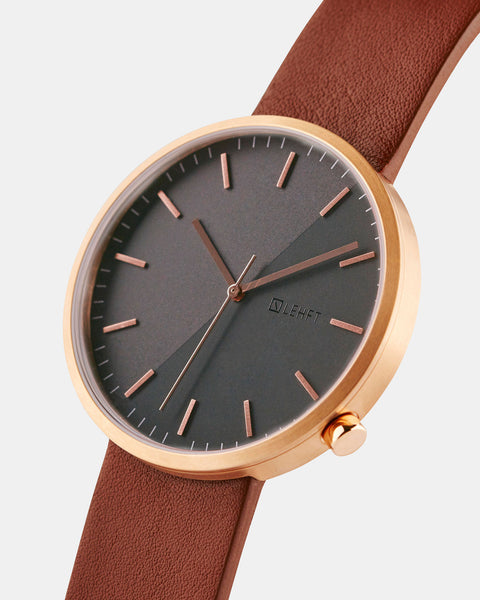 Rose Gold / Tan Brown - LEHFT Minimalist Watches - 2