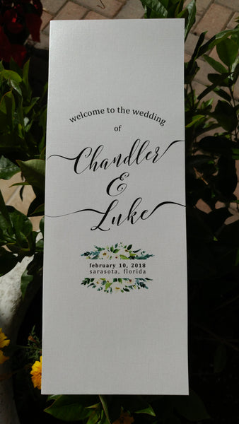 Wedding Programs - Custom Wedding Ceremony Programs - 10 min order - I Do Artsy Weddings