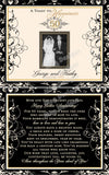 Wedding Anniversary Label - 50th Anniversary Wine Bottle Photo Label Set - Personalized to your year Front and Back Label - Set of 2