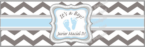 It's a Boy Cigar Bands - I Do Artsy Weddings