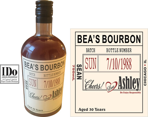 Homemade Craft Liquor Labels - I Do Artsy Weddings