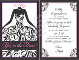 Custom Bridesmaid Wine Labels Say Yes to the Dress