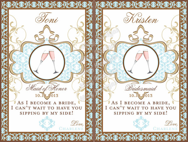 Moroccan Wine Labels - I Do Artsy Weddings