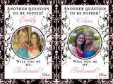 Custom Bridesmaid Photo Wine Labels