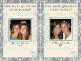 Grey and Mint Photo Wine Labels