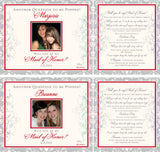 Bridesmaid Champagne Labels - Front & Back