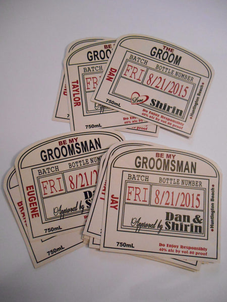 Personalized Liquor Labels - Arched Labels Made to fit - I Do Artsy Weddings
