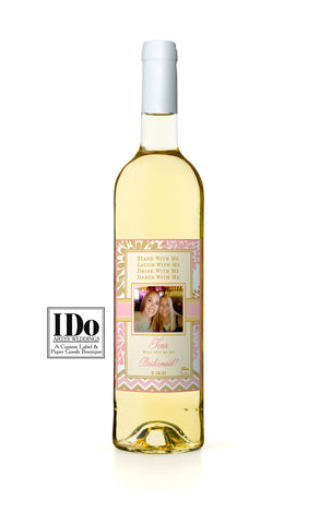 Stand With Me Photo Wine Label - I Do Artsy Weddings