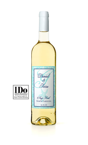 Monogram Starfish Wine Label