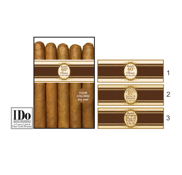 Birthday Cigar Bands for Any Year