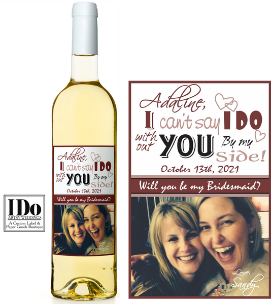I Can't Say I Do Artsy Wine Labels - I Do Artsy Weddings