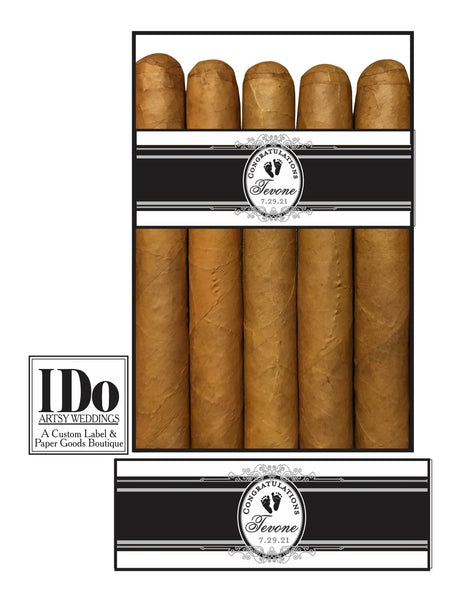 Announce the New Baby Cigar Bands - 16 Bands - I Do Artsy Weddings
