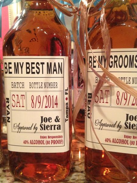 Wedding Party and Groomsman Liquor Labels | Your Brand Liquor Labels