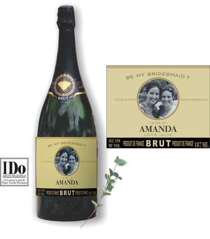 Brut Bridesmaid Labels