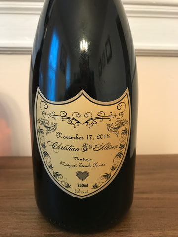 Champagne Labels - Customized - Custom Labels - I Do Artsy Weddings