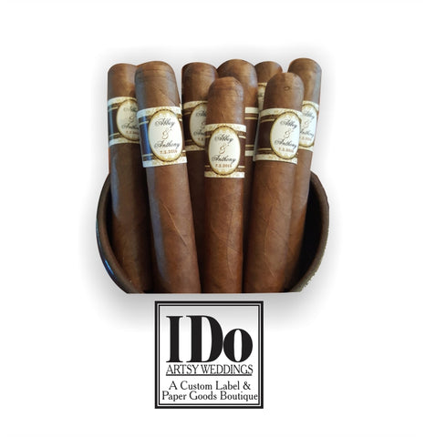 Wedding Party Cigar Bands - I Do Artsy Weddings