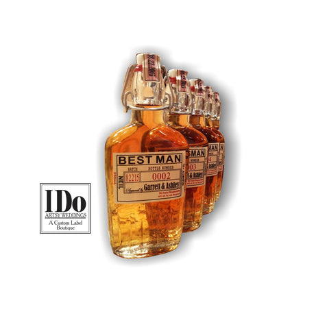Groomsman Labels - Front Bottle Labels  - Personalized Groomsman and Best Man Labels - Grooms Gifts
