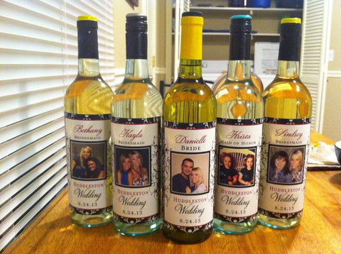 Bridesmaid Photo Wine Labels - Be My Bridesmaid & Maid of Honor