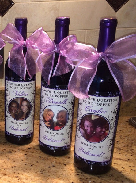 Custom Maid of Honor Wine Labels - I Do Artsy Weddings