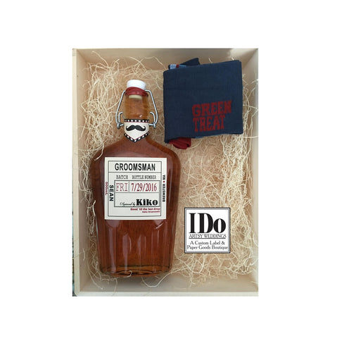 Personalized Groomsmen and Best Man Whiskey Labels
