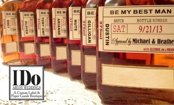 Will you be my Groomsman -  Will you be my Best Man Labels