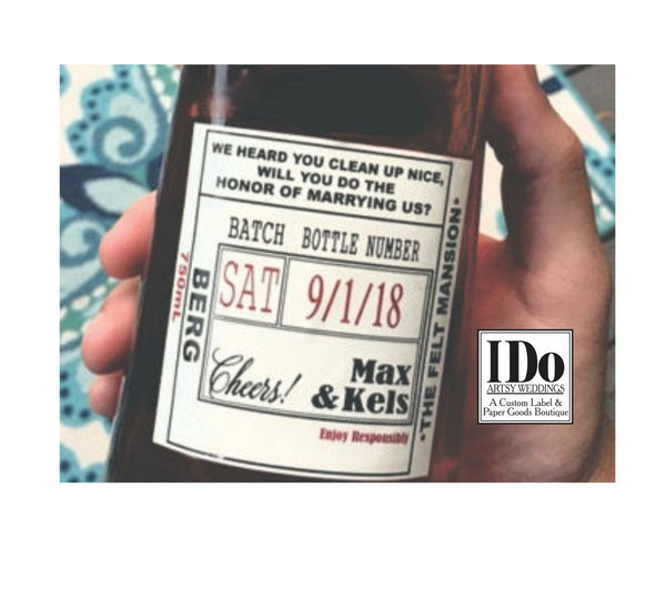 Officiant Liquor Label - I Do Artsy Weddings