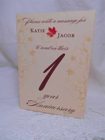 Table Numbers - Wedding Anniversary Table Numbers - Harvest Fall Scroll Collection - Table Number Cards - Signature Cards - Customizable 5x7