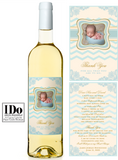 Christening Front and Back Wine Labels