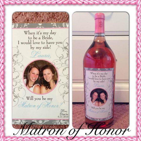 Bridesmaid\Wine Labels with Photos