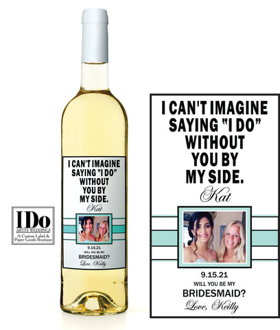 Modern I Can't Say I Do Wine Labels - I Do Artsy Weddings
