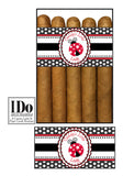 Lady Bug Daddy's Girl Cigar Bands - It's A Girl! - I Do Artsy Weddings