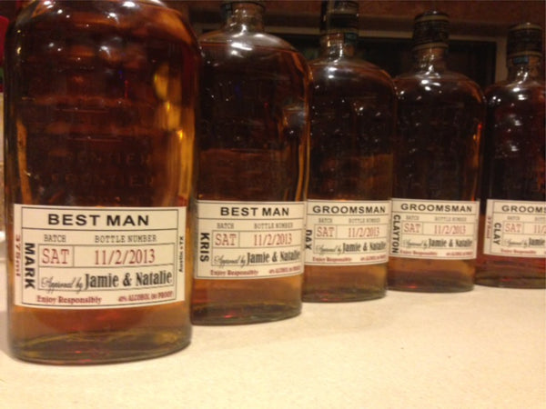 Groomsmen Labels - fits Bulleit bottles or made to size - I Do Artsy Weddings