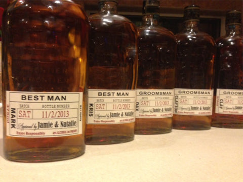 Groomsmen Liquor Labels - Best Man and Groomsman Gifts