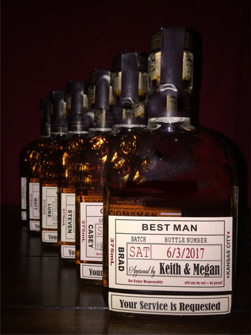 Groomsman Proposal Labels - Be My Groomsman Labels - Personalized Groomsman and Best Man & Spirits Label - Custom Grooms Gifts