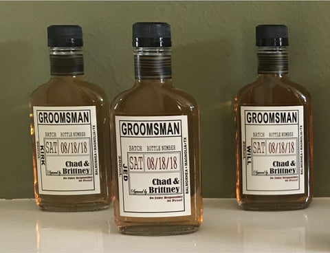 Wedding Groomsman Liquor Labels for your Best Man and Groomsman Gifts