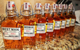Groomsman Labels for Whiskey Bottles or any  Bottles - Cut to fit - I Do Artsy Weddings