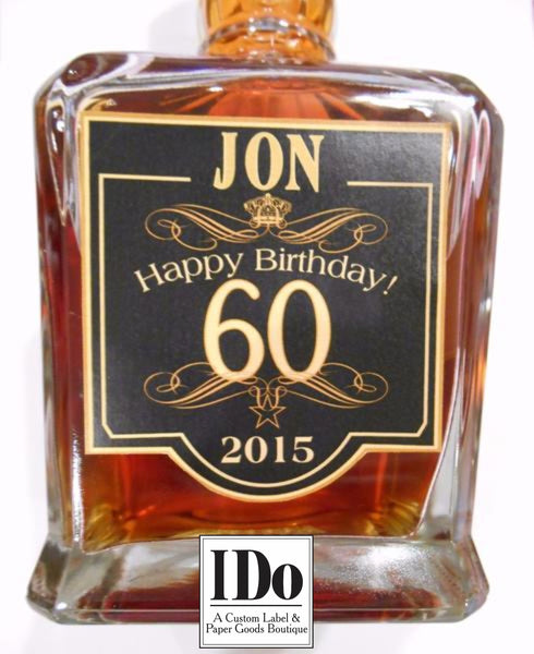 Men's Birthday Liquor Label