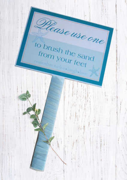 Wedding Paint Brush Sign - Beach Wedding Sand Brush Sign - Customizable