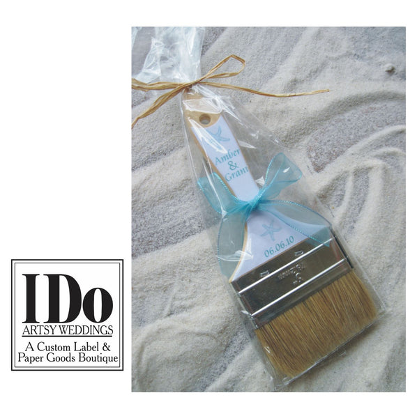 Beach Wedding Sand Paint Brush - I Do Artsy Weddings