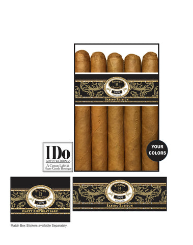 Birthday Cigar Bands - Any Birthday Year - I Do Artsy Weddings