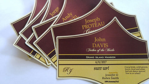 Custom Groomsman Labels - Spirits Labels - Personalized Groomsman and Best Man Stickers & Whiskey Label - Custom Grooms Gifts