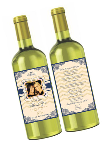 Mother of the Bride Wine Label