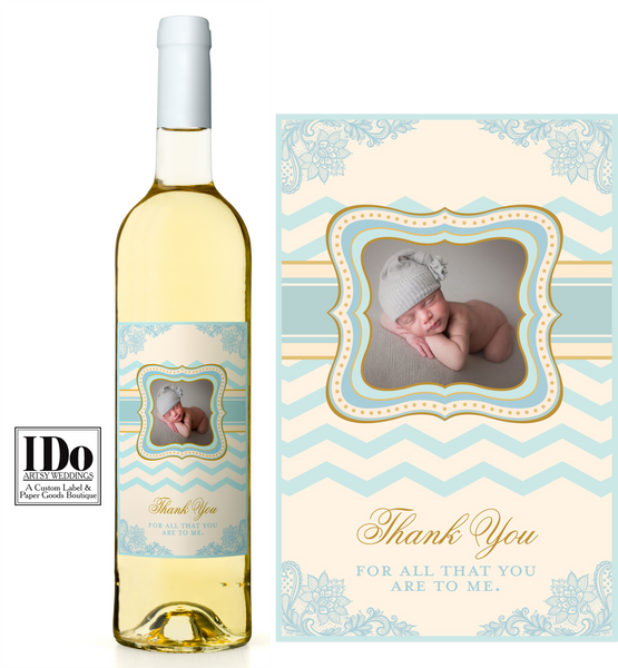 Godparent Thank You Wine Label