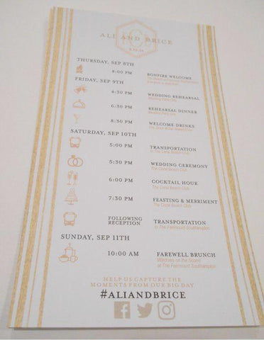 Wedding Itinerary - Wedding Timeline Cards - Custom Wedding Programs - Itinerary Cards - Timeline Cards - Wedding Schedules -25 cards - I Do Artsy Weddings