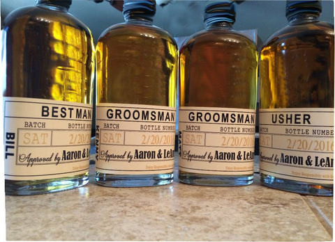 Beer and Liquor Labels - Will You Be My Groomsmen - I Do Artsy Weddings